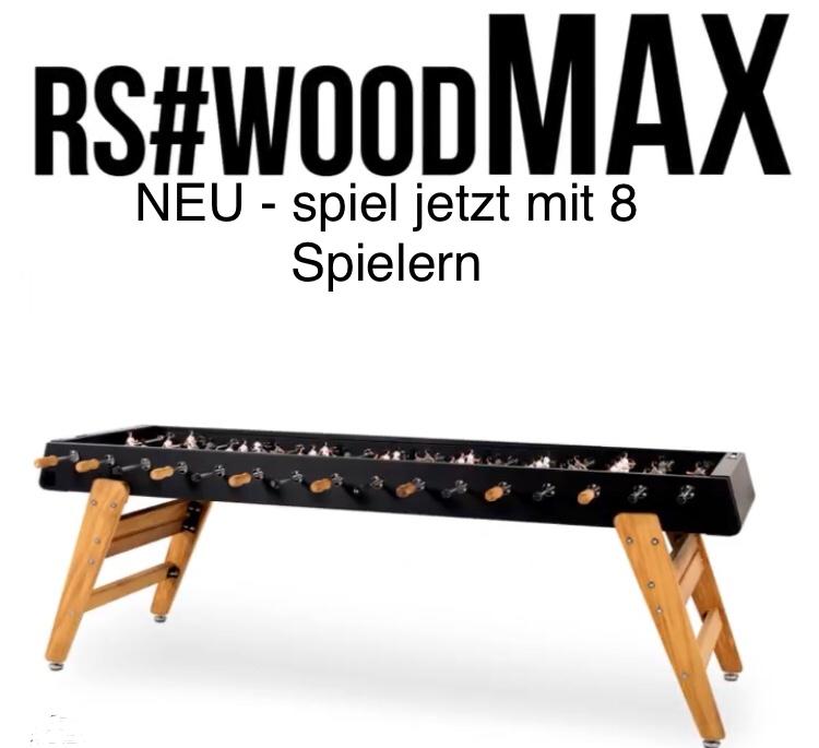 """Tischkicker  """"Der Maxi""""  RS#3 Wood MAX von RS Barcelona (in- & outdoor)"""