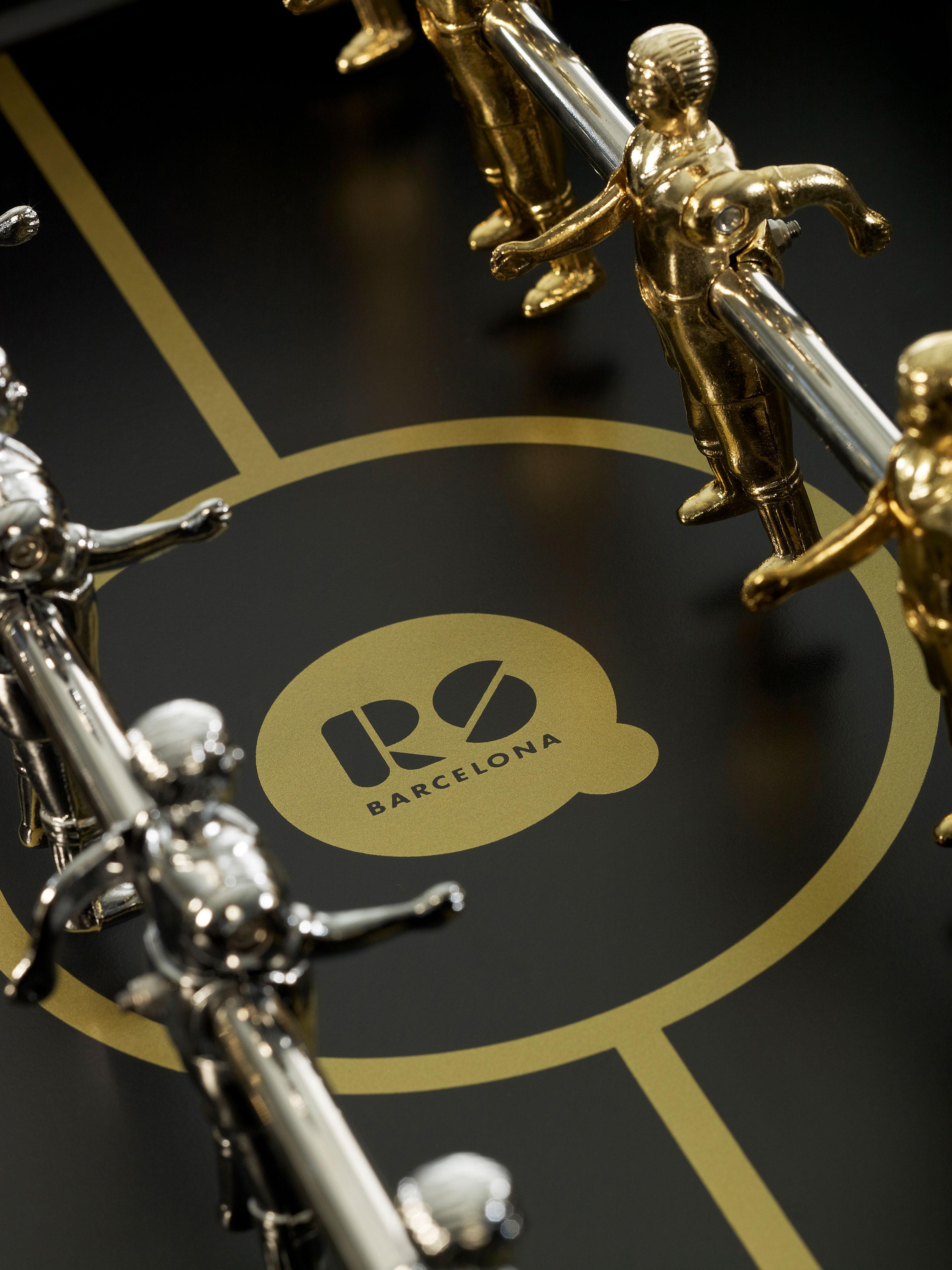 """Tischkicker """"Der Edle"""" - Design RS#3 Wood GOLD von RS Barcelona (in-&outdoor)"""