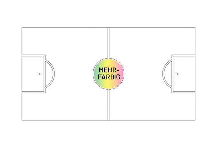 Mittelkreis ca. 22.3 cm Mehrfarbig