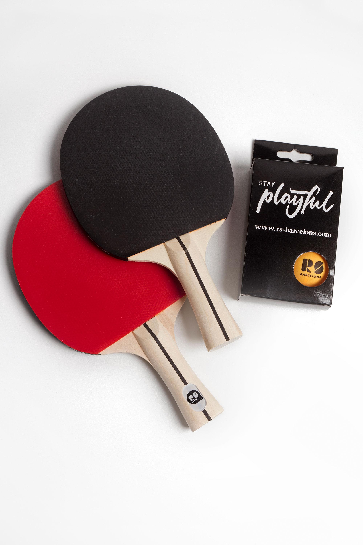 """Tischtennisschläger """"PingPong"""" - Set mit 2 Kellen von RS Barcelona"""