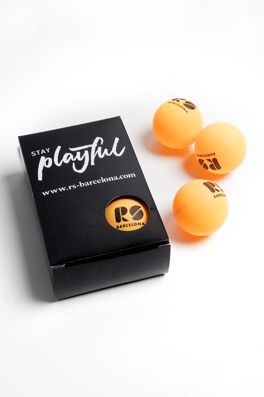 """Tischtennisbälle """"PingPong"""" - Set mit 6 Bällen von RS Barcelona"""