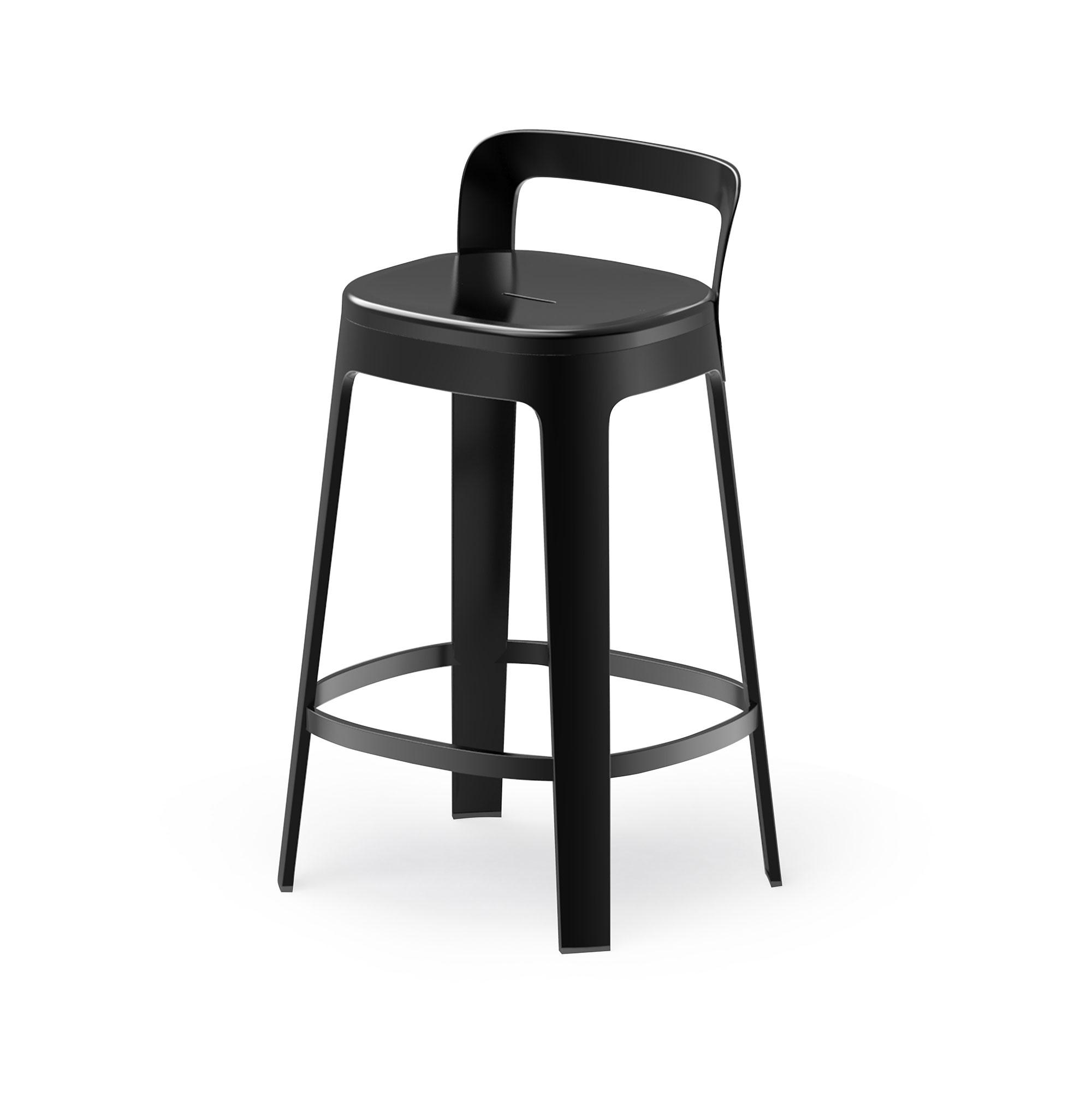 """Thekenhocker mit Lehne """"Das Mittelstück"""" - Design OMBRA COUNTER von RS Barcelona"""