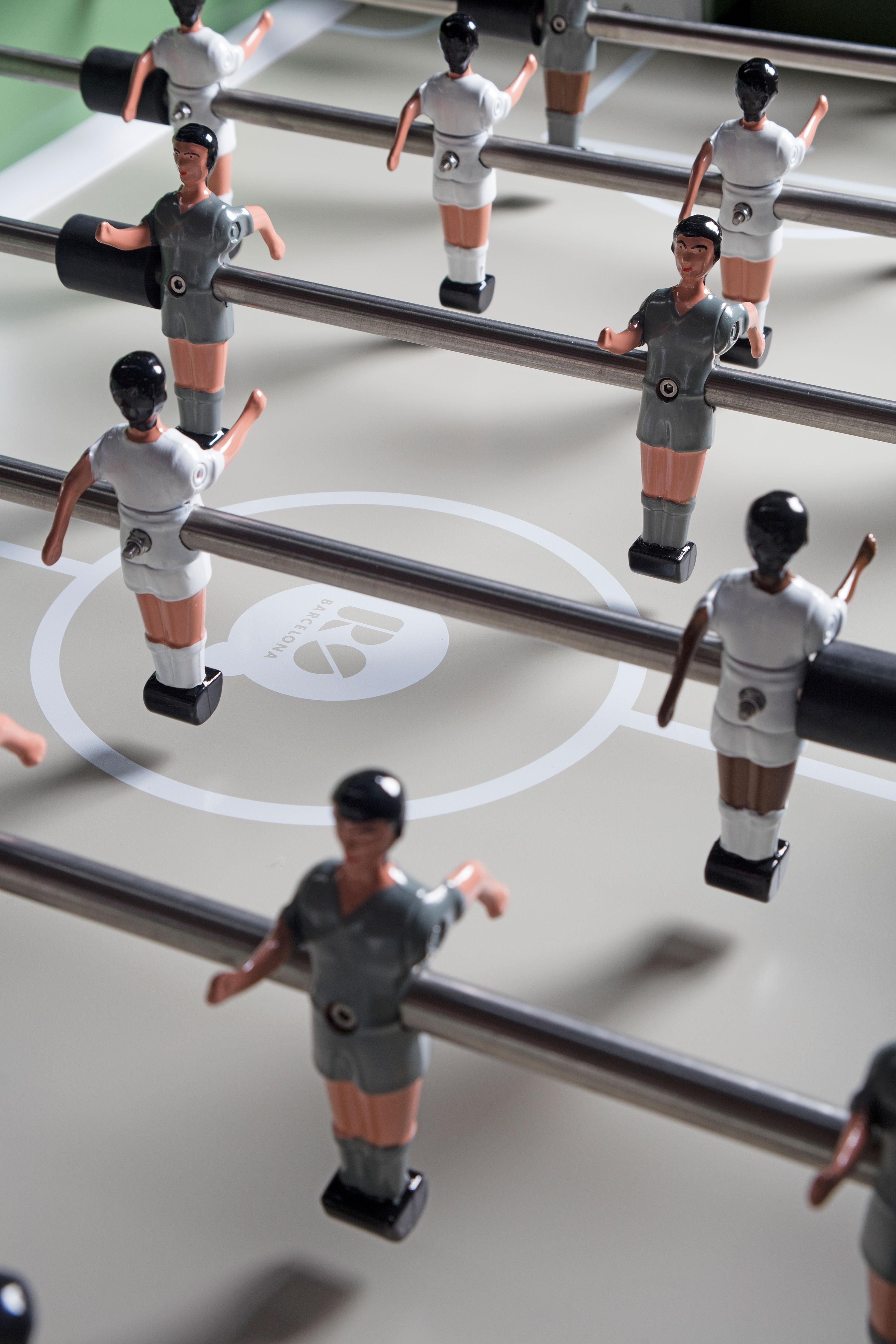 """Kickerfiguren-Ersatz-Team """"1-Bein-Spieler"""" von RS Barcelona (viele Trikotfarben)"""