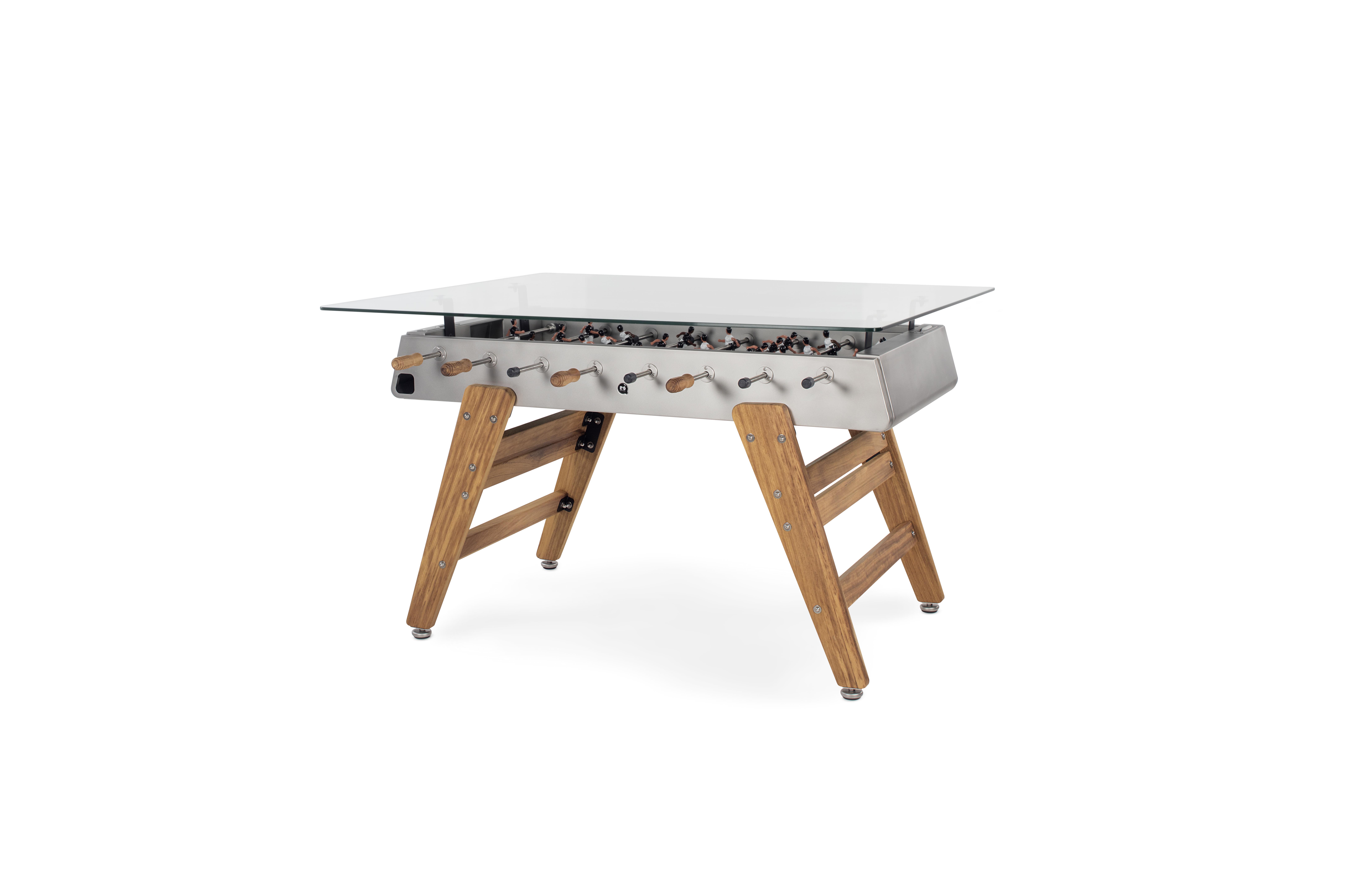 Designkicker RS#3 Wood Dining mit Glasplatte rechteckig von RS Barcelona (in-&outdoor)